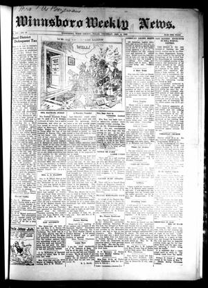 Primary view of object titled 'Winnsboro Weekly News (Winnsboro, Tex.), Vol. 14, No. 16, Ed. 1 Thursday, January 4, 1923'.