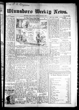 Primary view of object titled 'Winnsboro Weekly News (Winnsboro, Tex.), Vol. 14, No. 17, Ed. 1 Thursday, January 11, 1923'.