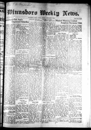 Primary view of object titled 'Winnsboro Weekly News (Winnsboro, Tex.), Vol. 14, No. 20, Ed. 1 Thursday, February 1, 1923'.