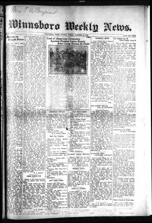 Primary view of object titled 'Winnsboro Weekly News (Winnsboro, Tex.), Vol. 15, No. 3, Ed. 1 Thursday, October 11, 1923'.