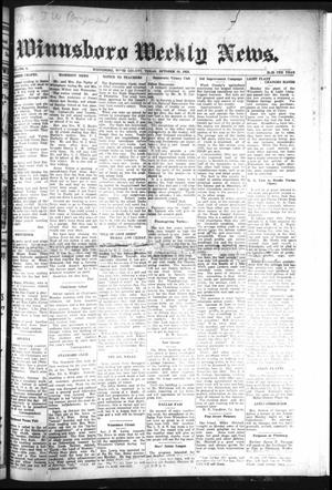 Primary view of object titled 'Winnsboro Weekly News (Winnsboro, Tex.), Vol. 15, No. 4, Ed. 1 Thursday, October 18, 1923'.