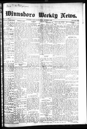 Primary view of object titled 'Winnsboro Weekly News (Winnsboro, Tex.), Vol. 14, No. 7, Ed. 1 Thursday, November 8, 1923'.