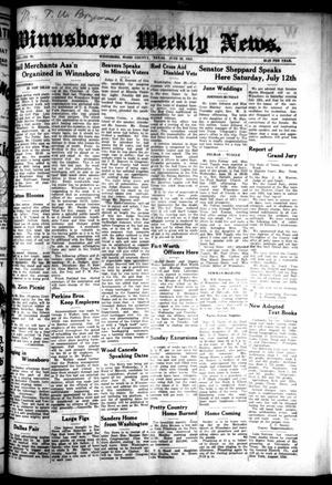 Primary view of object titled 'Winnsboro Weekly News (Winnsboro, Tex.), Vol. 14, No. 39, Ed. 1 Thursday, June 26, 1924'.