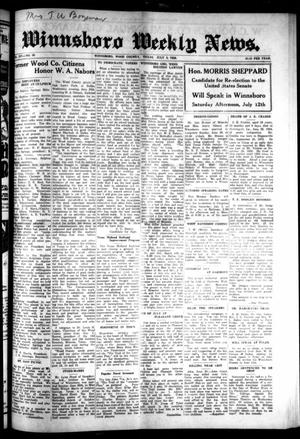 Primary view of object titled 'Winnsboro Weekly News (Winnsboro, Tex.), Vol. 14, No. 40, Ed. 1 Thursday, July 3, 1924'.