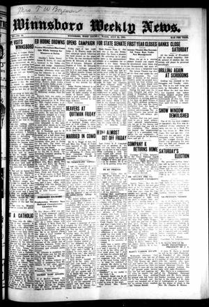 Primary view of object titled 'Winnsboro Weekly News (Winnsboro, Tex.), Vol. 14, No. 43, Ed. 1 Thursday, July 24, 1924'.