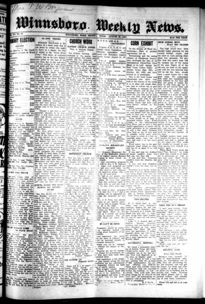 Primary view of object titled 'Winnsboro Weekly News (Winnsboro, Tex.), Vol. 14, No. 48, Ed. 1 Thursday, August 28, 1924'.