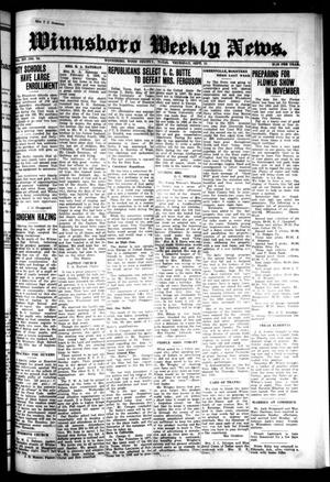 Primary view of object titled 'Winnsboro Weekly News (Winnsboro, Tex.), Vol. 14, No. 50, Ed. 1 Thursday, September 11, 1924'.