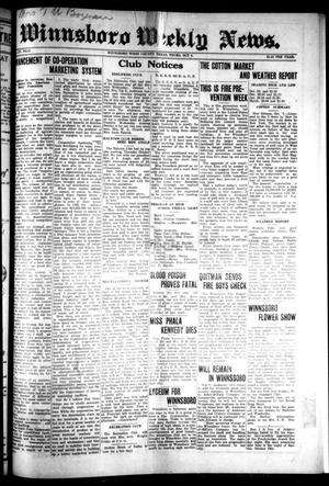 Primary view of object titled 'Winnsboro Weekly News (Winnsboro, Tex.), Vol. 15, No. 2, Ed. 1 Thursday, October 9, 1924'.