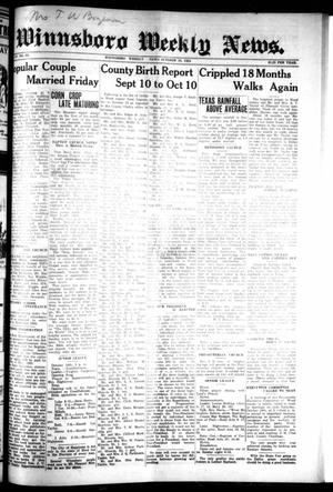Primary view of object titled 'Winnsboro Weekly News (Winnsboro, Tex.), Vol. 15, No. 3, Ed. 1 Thursday, October 16, 1924'.