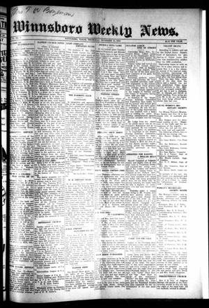 Primary view of object titled 'Winnsboro Weekly News (Winnsboro, Tex.), Vol. 15, No. 7, Ed. 1 Thursday, November 13, 1924'.