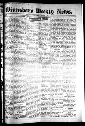 Primary view of object titled 'Winnsboro Weekly News (Winnsboro, Tex.), Vol. 15, No. 10, Ed. 1 Thursday, December 4, 1924'.