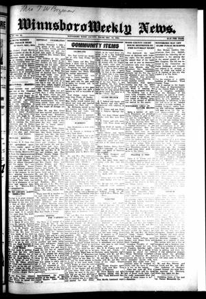 Winnsboro Weekly News (Winnsboro, Tex.), Vol. 15, No. 12, Ed. 1 Thursday, December 18, 1924