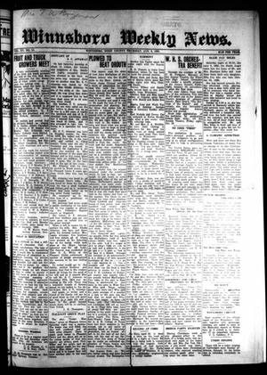 Primary view of object titled 'Winnsboro Weekly News (Winnsboro, Tex.), Vol. 15, No. 14, Ed. 1 Thursday, January 8, 1925'.