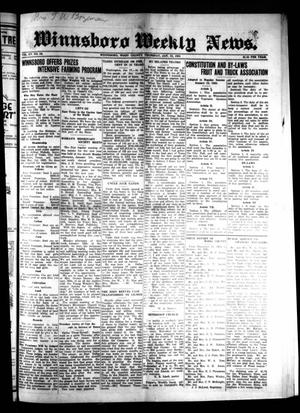 Primary view of object titled 'Winnsboro Weekly News (Winnsboro, Tex.), Vol. 15, No. 16, Ed. 1 Thursday, January 22, 1925'.