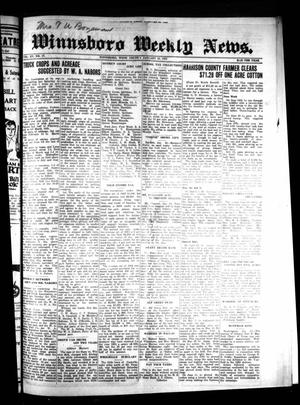 Primary view of object titled 'Winnsboro Weekly News (Winnsboro, Tex.), Vol. 15, No. 17, Ed. 1 Thursday, January 29, 1925'.
