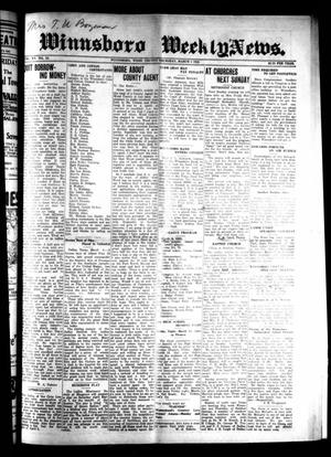 Primary view of object titled 'Winnsboro Weekly News (Winnsboro, Tex.), Vol. 15, No. 22, Ed. 1 Thursday, March 5, 1925'.