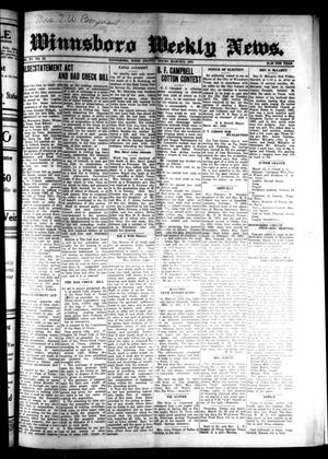 Primary view of object titled 'Winnsboro Weekly News (Winnsboro, Tex.), Vol. 15, No. 23, Ed. 1 Thursday, March 12, 1925'.