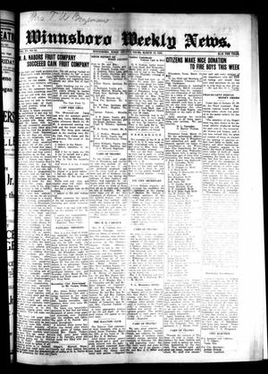 Primary view of object titled 'Winnsboro Weekly News (Winnsboro, Tex.), Vol. 15, No. 24, Ed. 1 Thursday, March 19, 1925'.