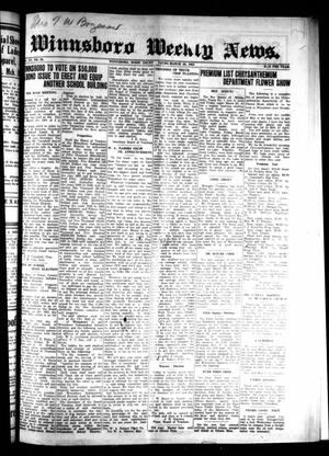 Primary view of object titled 'Winnsboro Weekly News (Winnsboro, Tex.), Vol. 15, No. 25, Ed. 1 Thursday, March 26, 1925'.