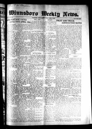 Primary view of object titled 'Winnsboro Weekly News (Winnsboro, Tex.), Vol. 15, No. 27, Ed. 1 Thursday, April 9, 1925'.