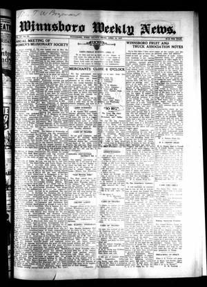 Primary view of object titled 'Winnsboro Weekly News (Winnsboro, Tex.), Vol. 15, No. 28, Ed. 1 Thursday, April 16, 1925'.