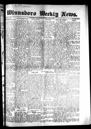 Primary view of object titled 'Winnsboro Weekly News (Winnsboro, Tex.), Vol. 17, No. 31, Ed. 1 Thursday, May 7, 1925'.