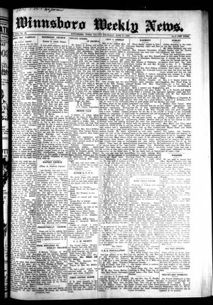 Primary view of object titled 'Winnsboro Weekly News (Winnsboro, Tex.), Vol. 17, No. 36, Ed. 1 Thursday, June 11, 1925'.
