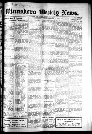 Primary view of object titled 'Winnsboro Weekly News (Winnsboro, Tex.), Vol. 17, No. 42, Ed. 1 Thursday, July 23, 1925'.