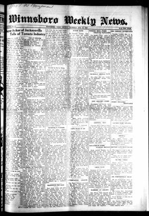 Primary view of object titled 'Winnsboro Weekly News (Winnsboro, Tex.), Vol. 17, No. 45, Ed. 1 Thursday, August 13, 1925'.