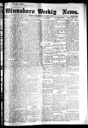 Primary view of object titled 'Winnsboro Weekly News (Winnsboro, Tex.), Vol. 17, No. 51, Ed. 1 Thursday, September 24, 1925'.