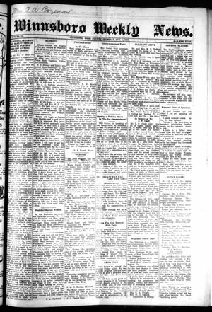 Primary view of object titled 'Winnsboro Weekly News (Winnsboro, Tex.), Vol. 17, No. 52, Ed. 1 Thursday, October 1, 1925'.