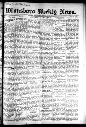 Primary view of object titled 'Winnsboro Weekly News (Winnsboro, Tex.), Vol. 18, No. 2, Ed. 1 Thursday, October 15, 1925'.