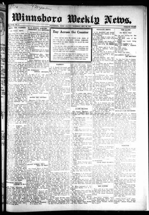 Primary view of object titled 'Winnsboro Weekly News (Winnsboro, Tex.), Vol. 18, No. 4, Ed. 1 Thursday, October 29, 1925'.