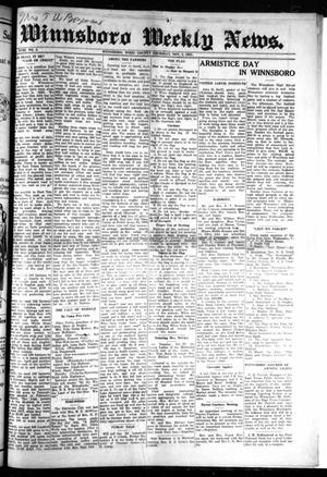 Primary view of object titled 'Winnsboro Weekly News (Winnsboro, Tex.), Vol. 18, No. 5, Ed. 1 Thursday, November 5, 1925'.