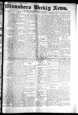Primary view of object titled 'Winnsboro Weekly News (Winnsboro, Tex.), Vol. 18, No. 6, Ed. 1 Thursday, November 12, 1925'.