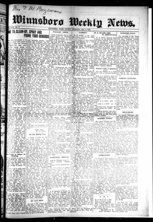 Winnsboro Weekly News (Winnsboro, Tex.), Vol. 18, No. 9, Ed. 1 Thursday, December 3, 1925
