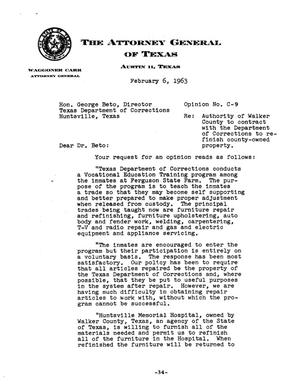 Texas Attorney General Opinion: C-9