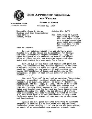 Primary view of object titled 'Texas Attorney General Opinion: C-336'.