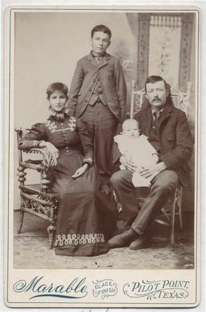 [Photograph of Laura Jane, John, George, and Wood Goin]