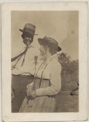 Primary view of object titled '[Jim Goin with an Unidentified Woman]'.
