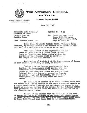 Primary view of object titled 'Texas Attorney General Opinion: M-95'.