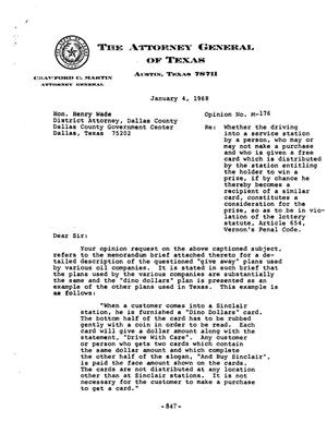 Primary view of object titled 'Texas Attorney General Opinion: M-176'.