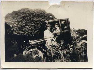 Primary view of object titled '[Photograph of George Campbell and Ada Campbell Blackwell]'.