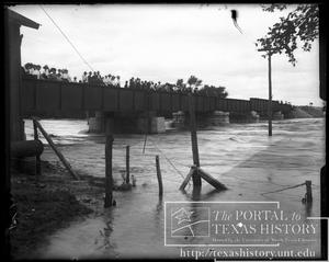 Primary view of object titled 'Bosque River Flood, RR Bridge #1'.