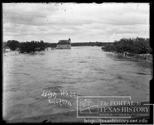 Primary view of object titled 'Bosque River Flood, Old Mill #2'.