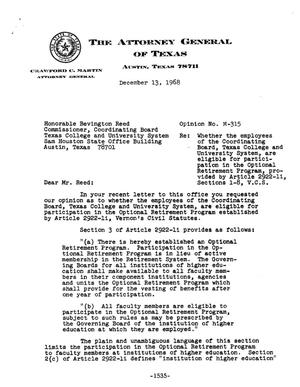 Primary view of object titled 'Texas Attorney General Opinion: M-315'.