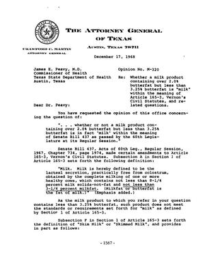 Primary view of object titled 'Texas Attorney General Opinion: M-320'.
