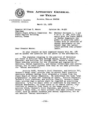 Primary view of object titled 'Texas Attorney General Opinion: M-362'.