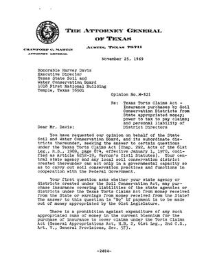 Primary view of object titled 'Texas Attorney General Opinion: M-521'.