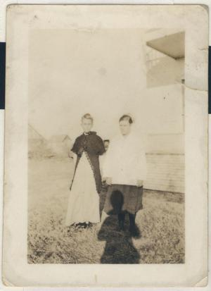 Primary view of object titled '[Photograph of Ina Doza Tucker and Reina Goin]'.